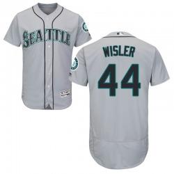 Matt Wisler Seattle Mariners Men's Authentic Majestic Flex Base Road Collection Jersey - Gray