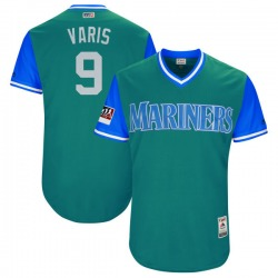"Dee Gordon Seattle Mariners Men's Authentic Majestic ""VARIS"" Aqua/ 2018 Players' Weekend Flex Base Jersey - Light Blue"