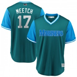 "Mitch Haniger Seattle Mariners Youth Replica Majestic ""MEETCH"" Aqua/ 2018 Players' Weekend Cool Base Jersey - Light Blue"