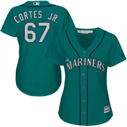Nestor Cortes Jr. Seattle Mariners Women's Authentic Majestic Cool Base Alternate Jersey - Green