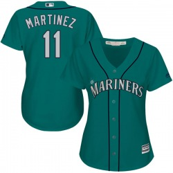 Edgar Martinez Seattle Mariners Women's Authentic Cool Base Alternate Majestic Jersey - Green