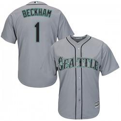 Tim Beckham Seattle Mariners Men's Replica Majestic Cool Base Road Jersey - Gray