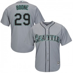 Bret Boone Seattle Mariners Men's Replica Majestic Cool Base Road Jersey - Gray