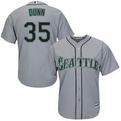 Justin Dunn Seattle Mariners Men's Replica Majestic Cool Base Road Jersey - Gray