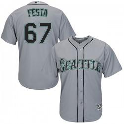Matt Festa Seattle Mariners Men's Replica Majestic Cool Base Road Jersey - Gray