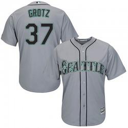Zac Grotz Seattle Mariners Men's Replica Majestic Cool Base Road Jersey - Gray