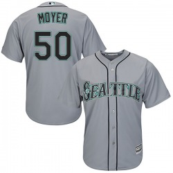 Jamie Moyer Seattle Mariners Men's Replica Majestic Cool Base Road Jersey - Gray