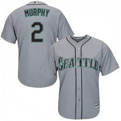 Tom Murphy Seattle Mariners Men's Replica Majestic Cool Base Road Jersey - Gray