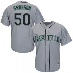 Erik Swanson Seattle Mariners Men's Replica Majestic Cool Base Road Jersey - Gray