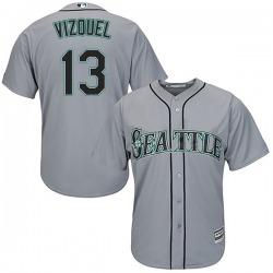 Omar Vizquel Seattle Mariners Men's Replica Majestic Cool Base Road Jersey - Gray