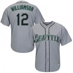 Mac Williamson Seattle Mariners Men's Replica Majestic Cool Base Road Jersey - Gray