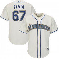 Matt Festa Seattle Mariners Men's Replica Majestic Cool Base Alternate Jersey - Cream
