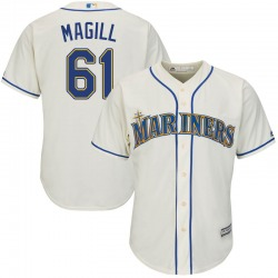 Matt Magill Seattle Mariners Men's Replica Majestic Cool Base Alternate Jersey - Cream