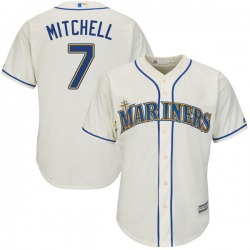 Kevin Mitchell Seattle Mariners Men's Replica Majestic Cool Base Alternate Jersey - Cream
