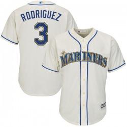 Alex Rodriguez Seattle Mariners Men's Replica Majestic Cool Base Alternate Jersey - Cream
