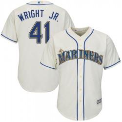 Mike Wright Jr. Seattle Mariners Men's Replica Majestic Cool Base Alternate Jersey - Cream