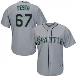 Matt Festa Seattle Mariners Youth Authentic Majestic Cool Base Road Jersey - Gray