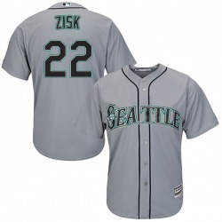 Richie Zisk Seattle Mariners Youth Authentic Majestic Cool Base Road Jersey - Gray