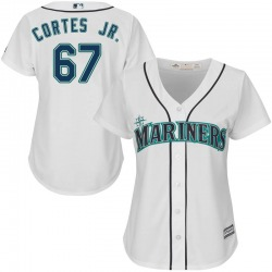 Nestor Cortes Jr. Seattle Mariners Women's Authentic Majestic Cool Base Home Jersey - White