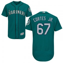 Nestor Cortes Jr. Seattle Mariners Men's Authentic Majestic Flex Base Alternate Collection Jersey - Green