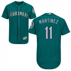 Edgar Martinez Seattle Mariners Men's Authentic Flex Base Alternate Collection Majestic Jersey - Green