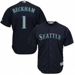 Tim Beckham Seattle Mariners Men's Replica Majestic Cool Base Alternate Jersey - Navy