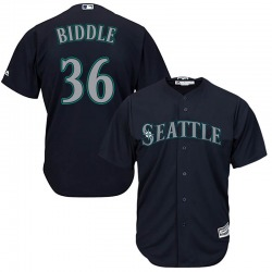 Jesse Biddle Seattle Mariners Men's Replica Majestic Cool Base Alternate Jersey - Navy