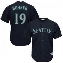 Jay Buhner Seattle Mariners Men's Replica Majestic Cool Base Alternate Jersey - Navy