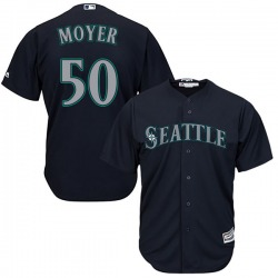 Jamie Moyer Seattle Mariners Men's Replica Majestic Cool Base Alternate Jersey - Navy
