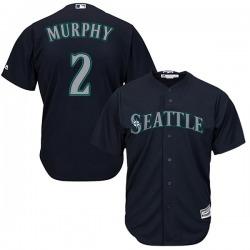Tom Murphy Seattle Mariners Men's Replica Majestic Cool Base Alternate Jersey - Navy