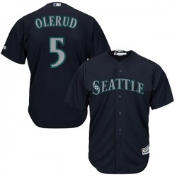John Olerud Seattle Mariners Men's Replica Majestic Cool Base Alternate Jersey - Navy
