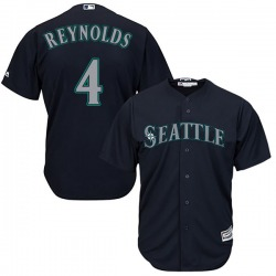 Harold Reynolds Seattle Mariners Men's Replica Majestic Cool Base Alternate Jersey - Navy