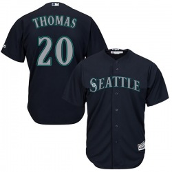 Gorman Thomas Seattle Mariners Men's Replica Majestic Cool Base Alternate Jersey - Navy