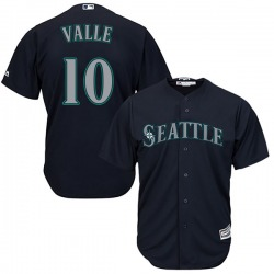 Dave Valle Seattle Mariners Men's Replica Majestic Cool Base Alternate Jersey - Navy