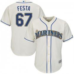 Matt Festa Seattle Mariners Youth Authentic Majestic Cool Base Alternate Jersey - Cream