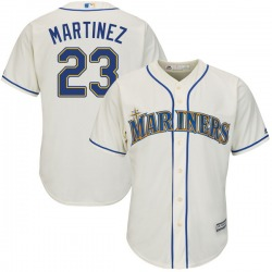 Tino Martinez Seattle Mariners Youth Authentic Majestic Cool Base Alternate Jersey - Cream