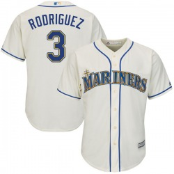 Alex Rodriguez Seattle Mariners Youth Authentic Majestic Cool Base Alternate Jersey - Cream