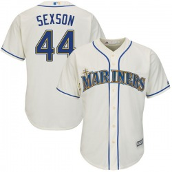 Richie Sexson Seattle Mariners Youth Authentic Majestic Cool Base Alternate Jersey - Cream