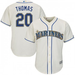 Gorman Thomas Seattle Mariners Youth Authentic Majestic Cool Base Alternate Jersey - Cream
