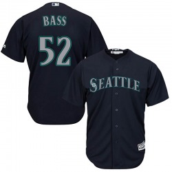 Anthony Bass Seattle Mariners Youth Replica Majestic Cool Base Alternate Jersey - Navy