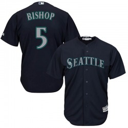 Braden Bishop Seattle Mariners Youth Replica Majestic Cool Base Alternate Jersey - Navy