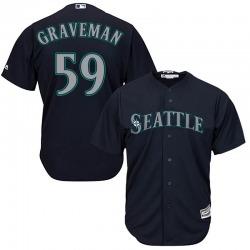 Kendall Graveman Seattle Mariners Youth Replica Majestic Cool Base Alternate Jersey - Navy