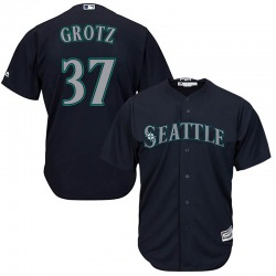 Zac Grotz Seattle Mariners Youth Replica Majestic Cool Base Alternate Jersey - Navy