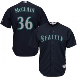 Reggie McClain Seattle Mariners Youth Replica Majestic Cool Base Alternate Jersey - Navy