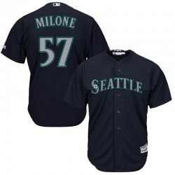 Tommy Milone Seattle Mariners Youth Replica Majestic Cool Base Alternate Jersey - Navy