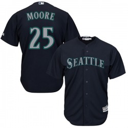 Dylan Moore Seattle Mariners Youth Replica Majestic Cool Base Alternate Jersey - Navy
