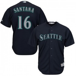 Domingo Santana Seattle Mariners Youth Replica Majestic Cool Base Alternate Jersey - Navy