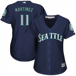Edgar Martinez Seattle Mariners Women's Authentic Cool Base Alternate Majestic Jersey - Navy