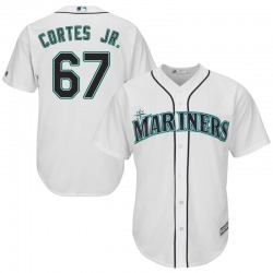 Nestor Cortes Jr. Seattle Mariners Youth Replica Majestic Cool Base Home Jersey - White