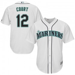 Ryan Court Seattle Mariners Youth Replica Majestic Cool Base Home Jersey - White